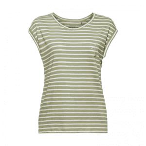 grøn stribet t-shirt